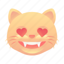 cat, emoji, emoticon, love, smiley