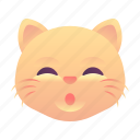 cat, emoji, emoticon, smiley, whistle icon