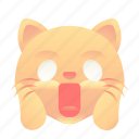 cat, emoji, emoticon, shock, smiley icon