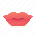 emoji, emoticon, lips, smiley icon