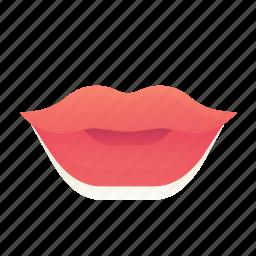 emoji, emoticon, lips, smiley icon