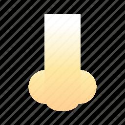 emoji, emoticon, nose, smiley icon