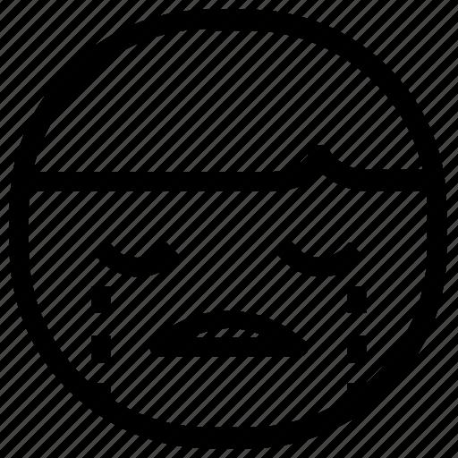 boy, cry, emoticon icon