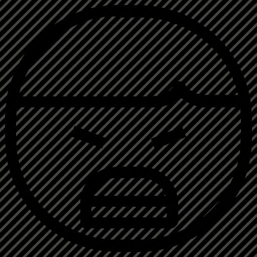 angry, boy, emoticon icon
