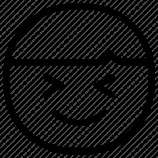 boy, emoticon, laugh icon