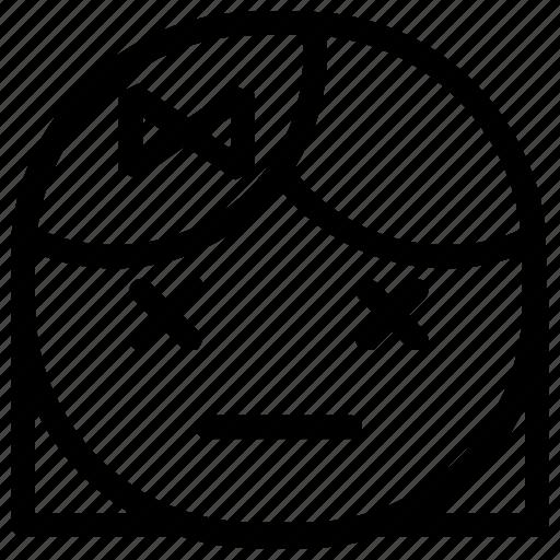 dead, emoticon, girl icon