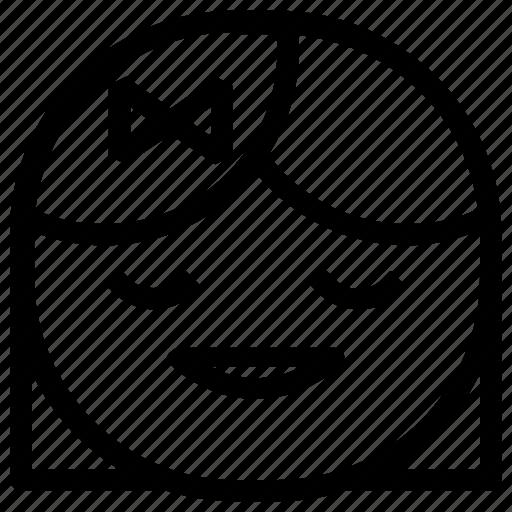 emoticon, girl, happy icon