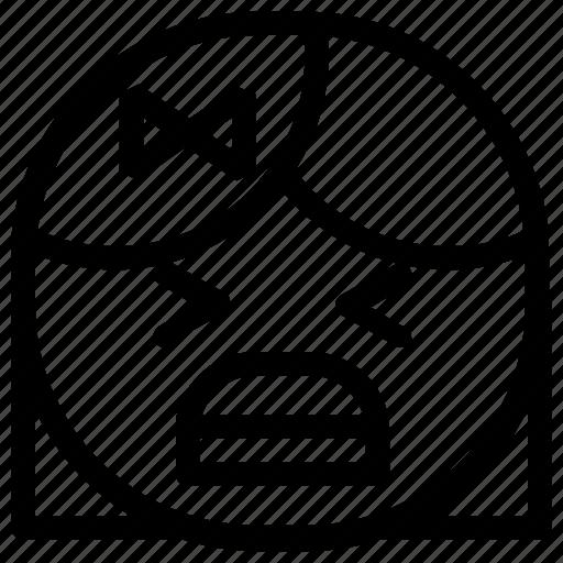 emoticon, girl, yell icon