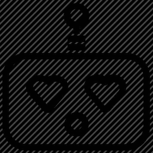 emoticon, love, robot icon