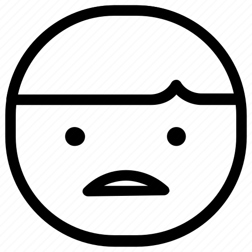 boy, emoticon, sad icon