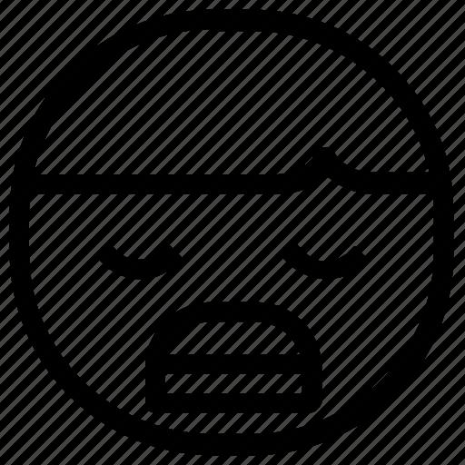 bored, boy, emoticon icon
