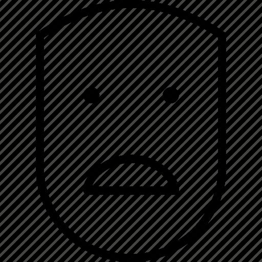 emotion, face, human, sad, shocked, unhappy, upset icon