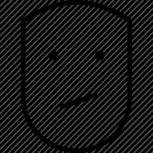 emotion, face, grim, human, uneasy, upset icon