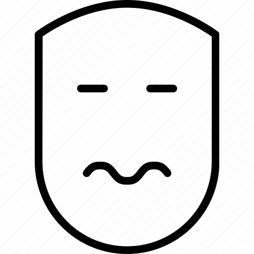 emotion, face, human, sad, scared, uneasy, weary icon