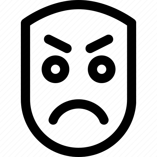 angry, emotion, face, human, mad, upset icon