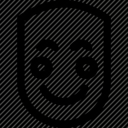 emotion, face, fun, happy, human, shy, smile icon