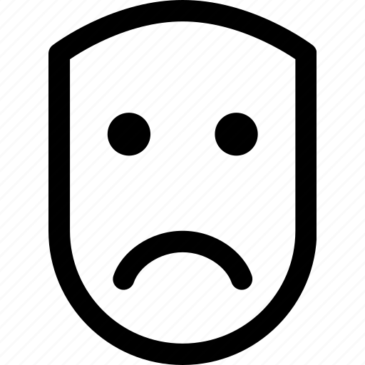 emotion, face, human, sad, unhappy, upset icon
