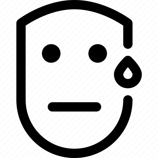 emotion, face, human, scared, silent, sweat icon