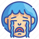 cry, crying, emoji, emotion, feelings, sad, weep icon