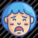emoji, emoticons, emotion, feelings, regret, sad, sadly