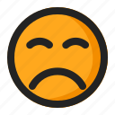 angry, disappointed, emoji, emoticon, sad