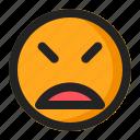 disappointed, emoji, emoticon, upset