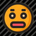 emoji, emoticon, surprised icon