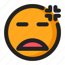 annoyed, disappointed, emoji, emoticon icon