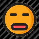 disappointed, emoji, emoticon, silent, surprised icon