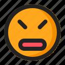annoyed, emoji, emoticon, surprised icon