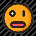 blink, emoji, emoticon, surprised icon