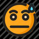 emoji, emoticon, sad, tired icon