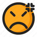 annoyed, disappointed, emoji, emoticon, upset icon
