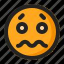 afraid, emoji, emoticon, sacred icon
