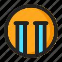 cry, emoji, emoticon, sad icon