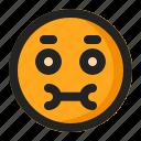 cute, emoji, emoticon, silent