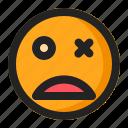 blink, dead, emoji, emoticon, fainted