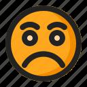 disappointed, emoji, emoticon, sad icon