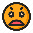 emoji, emoticon, sad, worried icon