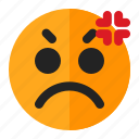 angry, annoyed, emoji, emoticon icon