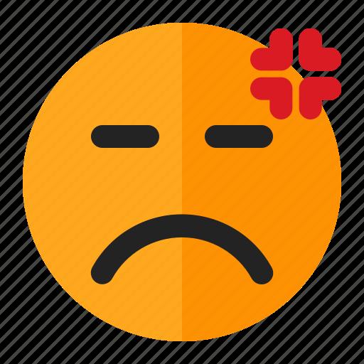 angry, annoyed, emoji, emoticon icon