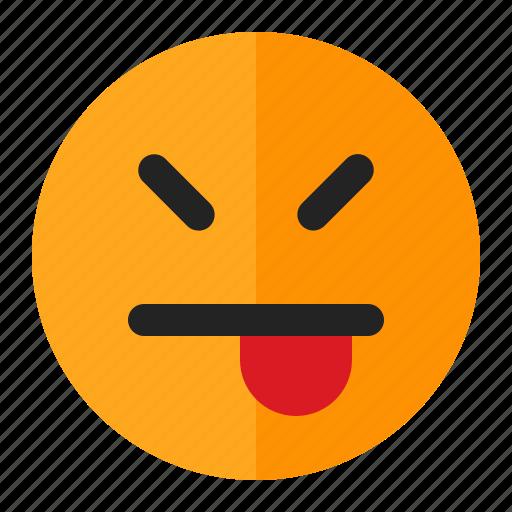 emoji, emoticon, happy, mock icon