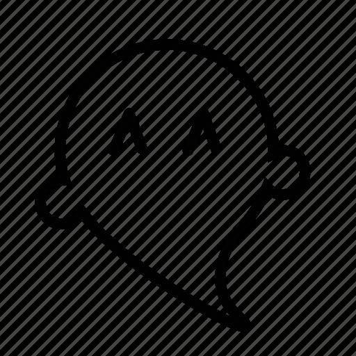 cartoon, emoji, ghost icon