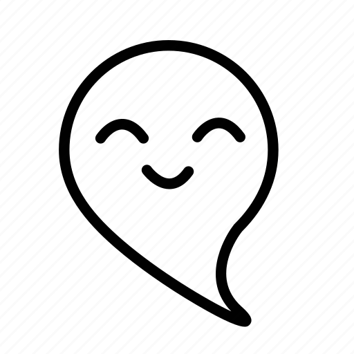 cartoon, emoji, ghost, happy icon