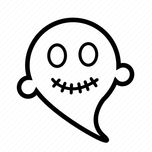 cartoon, emoji, ghost, halloween, scary icon