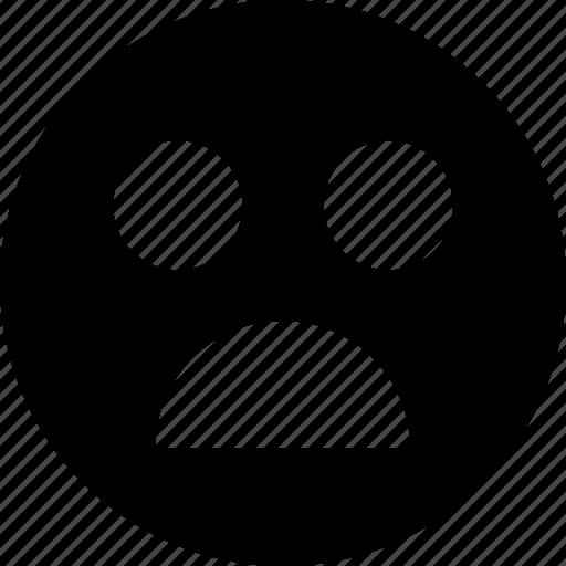 afraid, emotion, faces icon