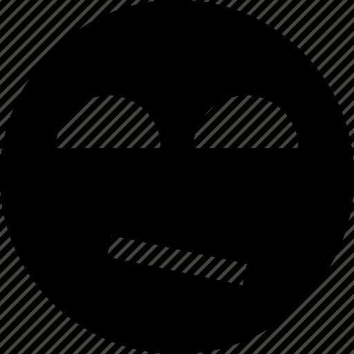 bad, face, smile icon