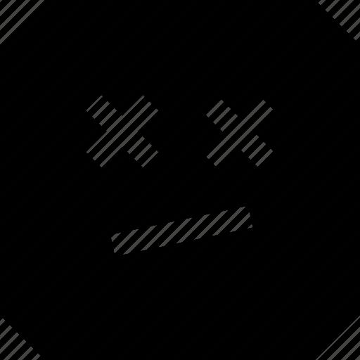 dead, emoji, eyes, face icon