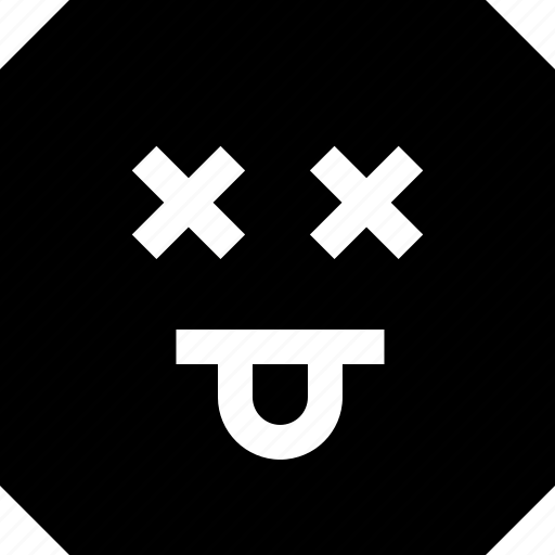dead, emoji, express, goof icon