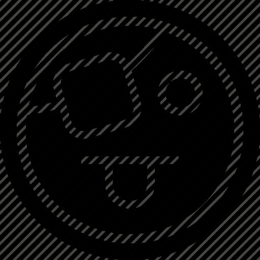 emoji, emotion, tongue icon